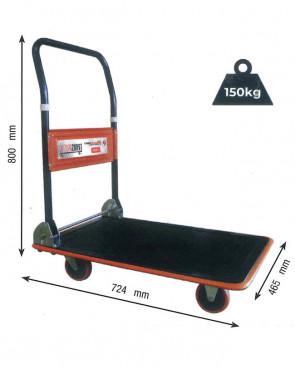 CWC15R/1 Carrello piano manuale per trasporto e stoccaggio - portata 150Kg