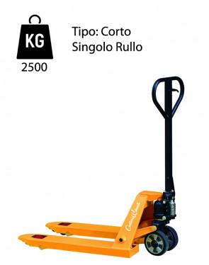 CWL1/80 Transpallet manuale corto - portata 2500 Kg - singolo rullo