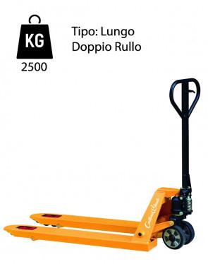 CWL2/200 Transpallet manuale lungo - portata 2500 Kg - doppio rullo