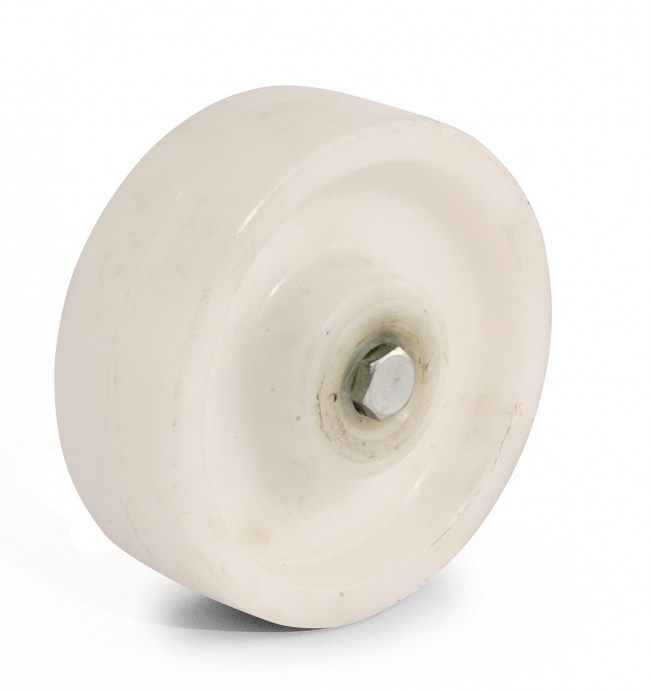 White nylon wheel - Ø80