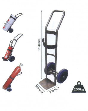 CWSAC15 Manual hand truck for curved cylindrical loads - load capacity 200Kg